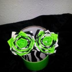 2 zebra duct tape rose pens