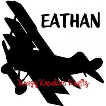 Personalized airplane vinyl wall decal